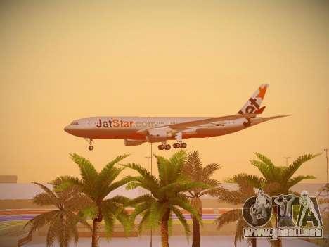 Airbus A330-200 Jetstar Airways para vista inferior GTA San Andreas