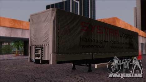 Krone SPD27 Systra Logistik para la visión correcta GTA San Andreas