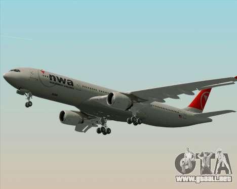 Airbus A330-300 Northwest Airlines para el motor de GTA San Andreas