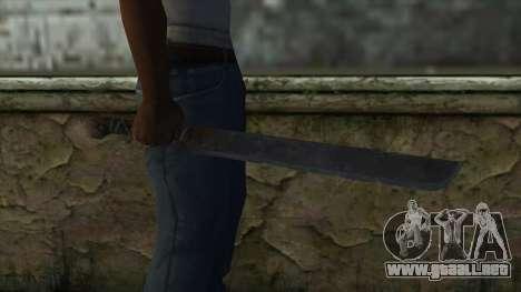 Machete from Assassins Creed 4: Freedom Cry para GTA San Andreas tercera pantalla