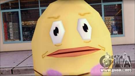 Biklad from Sponge Bob para GTA San Andreas tercera pantalla