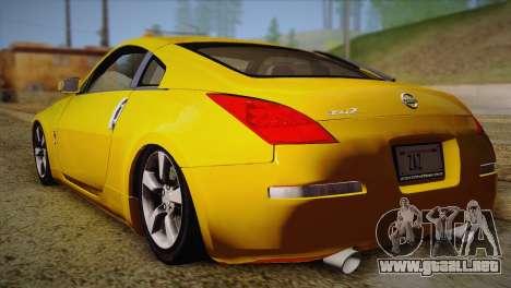 Nissan 350Z Turkey Tuned Drift para GTA San Andreas left