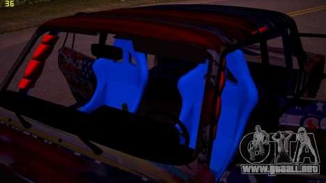 VAZ 2105 Deriva para visión interna GTA San Andreas