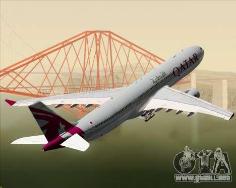 Airbus A330-300 Qatar Airways para las ruedas de GTA San Andreas