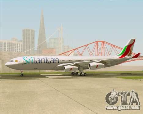Airbus A340-313 SriLankan Airlines para visión interna GTA San Andreas