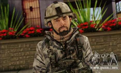 Task Force 141 (CoD: MW 2) Skin 2 para GTA San Andreas tercera pantalla