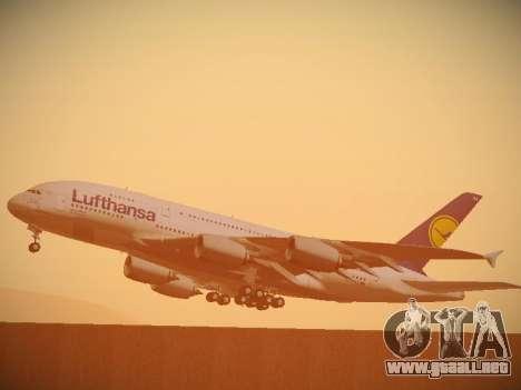 Airbus A380-800 Lufthansa para la vista superior GTA San Andreas