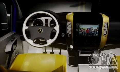 Mercedes-Benz Sprinter Dolmus v2 para GTA San Andreas vista posterior izquierda