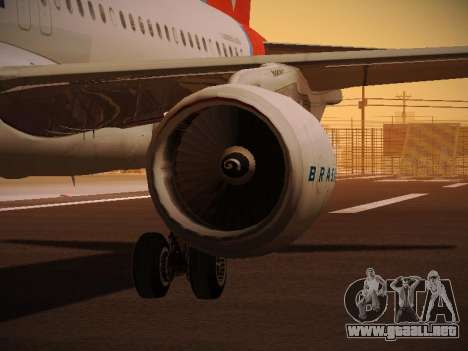 Airbus A320-214 TAM Oneworld para las ruedas de GTA San Andreas