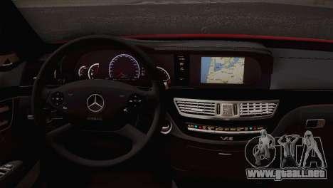 Mercedes-Benz S70 W221 para GTA San Andreas vista posterior izquierda