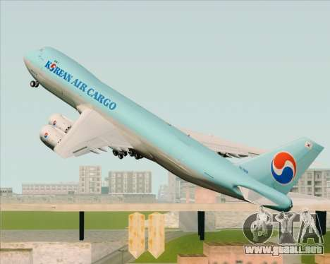 Boeing 747-8 Cargo Korean Air Cargo para GTA San Andreas