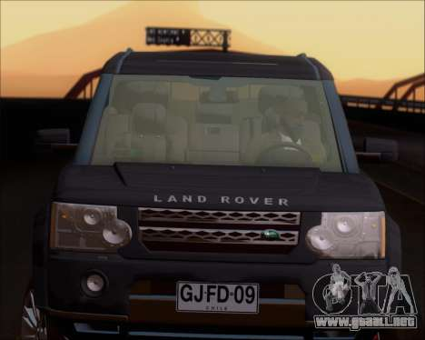 Land Rover Discovery 4 para la vista superior GTA San Andreas