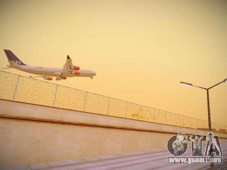 Airbus A340-300 Scandinavian Airlines para la visión correcta GTA San Andreas