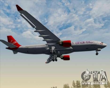 Airbus A330-300 Virgin Atlantic Airways para vista inferior GTA San Andreas