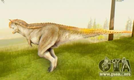 Carnotaurus para GTA San Andreas segunda pantalla
