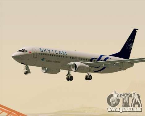 Boeing 737-86N Garuda Indonesia para GTA San Andreas interior