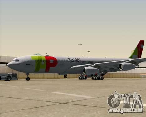 Airbus A340-312 TAP Portugal para GTA San Andreas vista hacia atrás
