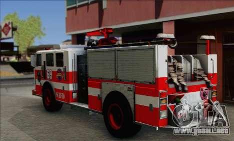 SAFD BRUTE Firetruck para GTA San Andreas left