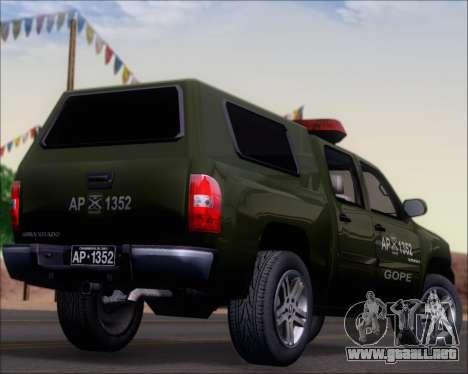 Chevrolet Silverado Gope para la vista superior GTA San Andreas