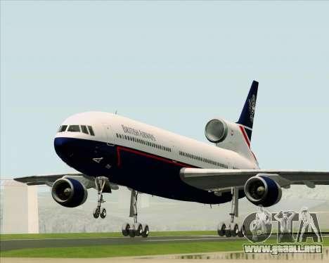 Lockheed L-1011 TriStar British Airways para GTA San Andreas vista hacia atrás