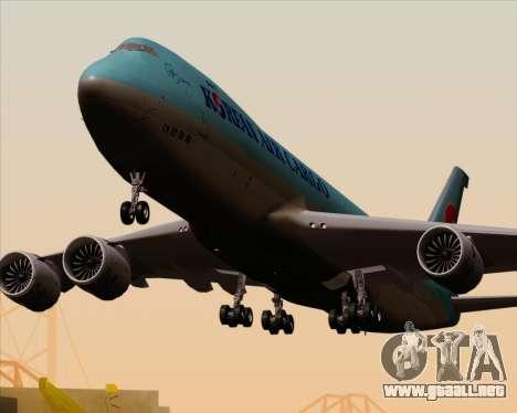 Boeing 747-8 Cargo Korean Air Cargo para las ruedas de GTA San Andreas