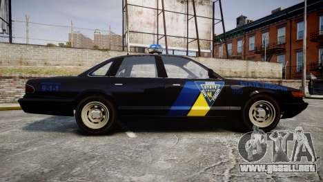 Vapid Police Cruiser LSPD Generation [ELS] para GTA 4 left