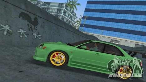 Subaru Impreza WRX 2002 Type 3 para GTA Vice City visión correcta