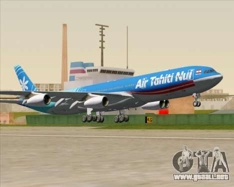Airbus A340-313 Air Tahiti Nui para visión interna GTA San Andreas