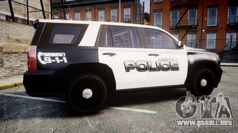 Chevrolet Tahoe 2015 Liberty Police [ELS] para GTA 4 left