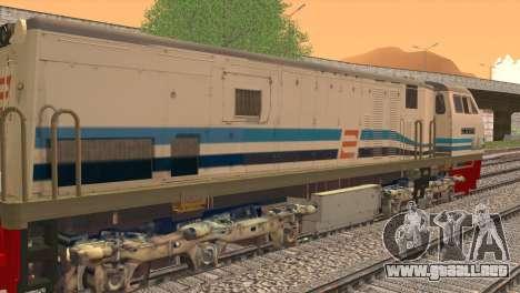 GE U20C CC 203 Old Livery para GTA San Andreas vista posterior izquierda
