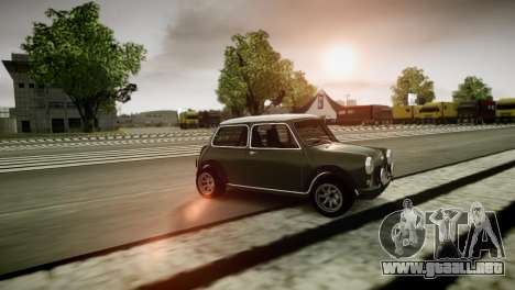 Mini Cooper RWD para GTA 4 Vista posterior izquierda