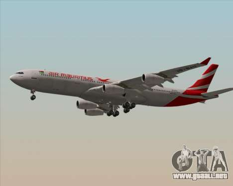 Airbus A340-312 Air Mauritius para GTA San Andreas vista hacia atrás