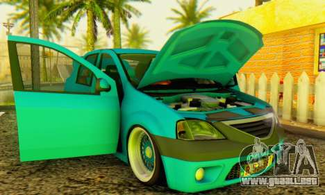 Dacia Logan Elegant para GTA San Andreas vista hacia atrás