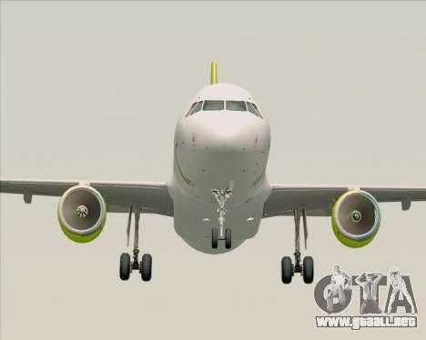 Airbus A320-200 Air Australia para GTA San Andreas vista hacia atrás