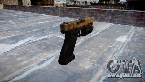 Pistola Glock 20 de la selva para GTA 4 segundos de pantalla