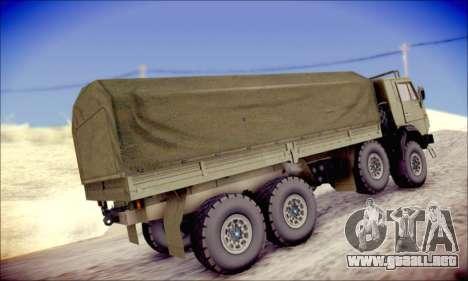 El KamAZ-6350 (APT) para la visión correcta GTA San Andreas