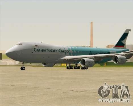 Boeing 747-8 Cargo Cathay Pacific Cargo para GTA San Andreas left