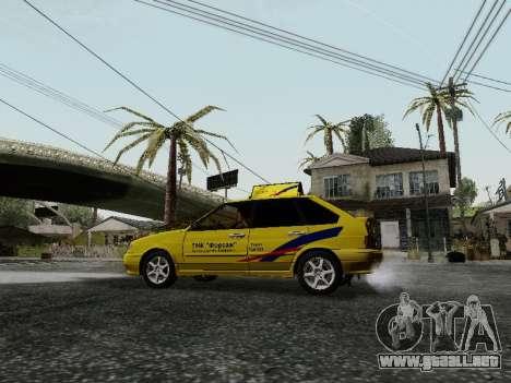 VAZ 2114 TMK afterburner para GTA San Andreas vista hacia atrás