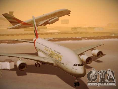 Airbus A380-800 Emirates para visión interna GTA San Andreas