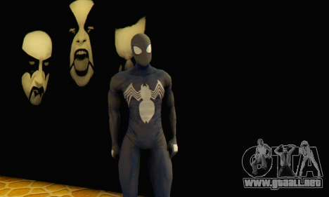 Skin The Amazing Spider Man 2 - DLC Black Suit para GTA San Andreas
