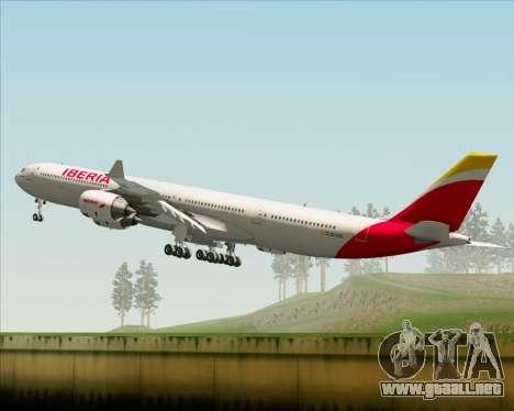 Airbus A340-642 Iberia Airlines para la vista superior GTA San Andreas