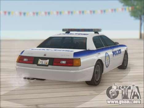 Admiral Police para la vista superior GTA San Andreas