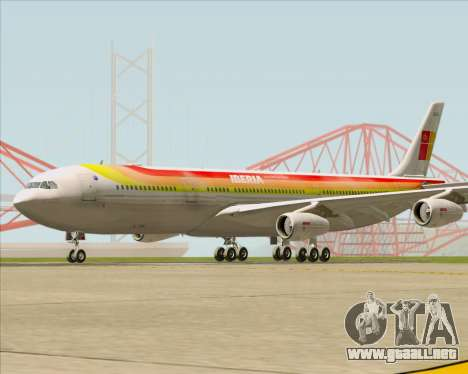 Airbus A340 -313 Iberia para GTA San Andreas left