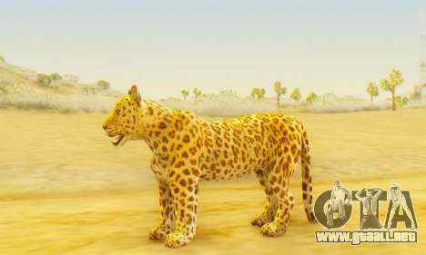 Leopard (Mammal) para GTA San Andreas segunda pantalla