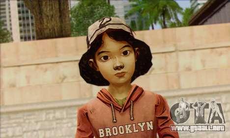 Klementine from Walking Dead para GTA San Andreas tercera pantalla