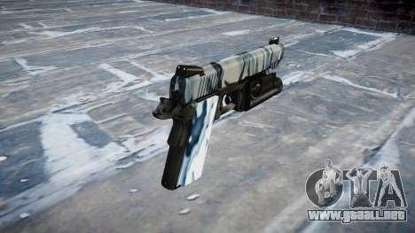 Pistola De Kimber 1911 Calaveras para GTA 4 segundos de pantalla