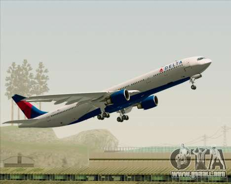 Airbus A330-300 Delta Airlines para vista inferior GTA San Andreas