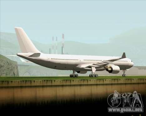 Airbus A330-300 Full White Livery para GTA San Andreas vista posterior izquierda