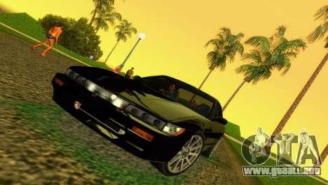 Nissan Silvia S13 RB26DETT Black Revel para GTA Vice City left
