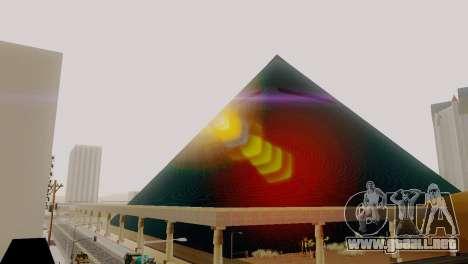 Nuevas texturas de la pirámide en Las Venturas para GTA San Andreas quinta pantalla